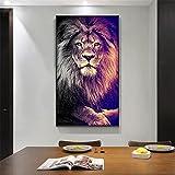Leinwand Malerei Löwe Dekor Malerei Poster Moderne Wandkunst Bild Löwen Bild im Wohnzimmer Home Decortion Bild 30x60cm Ungerahmt