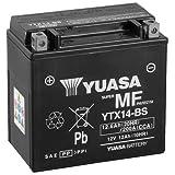 Batterie YUASA YTX14-BS (WC) AGM geschlossen, 12V|12Ah|CCA:200A (150x87x145mm) für Aprilia SL750 Shiver/GT Baujahr 2008