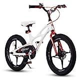 Royal Baby Kinderfahrrad Jungen Mädchen Space Shuttle Magnesium Fahrrad Stützräder Laufrad Kinder Fahrrad 14 Zoll Weiß
