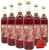 Bleichhof Erdbeersaft - 100% Direktsaft, naturrein und vegan, OHNE Zuckerzusatz, 6er Pack (6 x 0,72l)