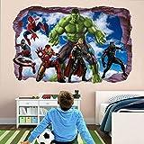 Wandtattoo Super Movie Hero Wall Stickers Mural Decal Hulk Spider Iron