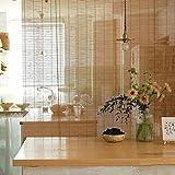 XZPENG Bambus-Sonnenschutz zum Aufrollen, mit Haken, wasserdicht und schimmelresistent, 60/80/90/100/120 cm breit, Innendekoration, Haus und Küche Dek