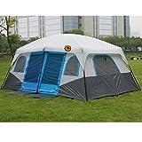 SZTUCCE 2021 Heißer Outdoor 6 8 10 12 Personen Strand Camping Zelt Anti/Beweis/Regen UV/Wasserdicht 1Soom 1hall Angeln Zelt Zelte Blackout Zelt Camping Zelt (Color : Blue)