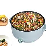 MultifunktionalePfanne 5L Elektrische Partypfanne mit deckel zum Kochen 1600W Pizzapfanne paellapfanne Multipfanne Innendurchmesser 12cm