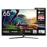 Hisense 65U8QF QLED 164cm (65 Zoll) Fernseher (4K ULED HDR Smart TV, Ultra Premium HD, HDR10+, Dolby Vision&Atmos, Full Array Local Dimming, 120Hz Panel, USB-Recording, JBL sound, Alexa Built-in)