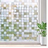 LMKJ Undurchsichtige Sichtschutz-Milchfolie, elektrostatische Selbstklebende Glasfolie, UV-Aufkleberglas A75 40x100