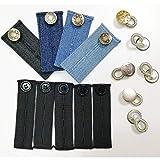 Anyasen 15 Stück bunderweiterung knopfverlängerung für Hosen Pants Extender Einstellbare Elastische Hosen Taille Verlängerungen für Hosenbund Gummiband für Hose Hosenerweiterung für Jeans Schwangere