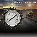 Naturra Reifen Druck Messer Fahrrad Reifen Druckmesser Geeignet für Mountainbike Reifen Niedriger Druck Bereich Bis 160 PSI / 11 BAR