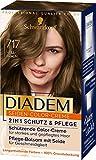 Schwarzkopf Diadem Seiden-Color-Creme, hochwertige Haarfarbe 717 Hellbraun Stufe 3, 3er Pack (3 x 170 ml)