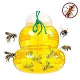 Wespenfalle - Wespenfänger, Bienenfalle, Gelbe Jackenfallen, Fruchtfliegenfalle, Hornissenfalle, Bienenfänger Kunststoff Ungiftig, Wiederverwendbar Hängend Oder Tischplatte Im Freien, Sanduhrförmig