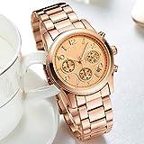 Voigoo Luxuxquarz Frauen-Uhren Relogio Feminino beiläufige Art und Weise Damen-Uhr-Taktgeber-Spitzenmarken Chronograph weiblich Armbanduhr