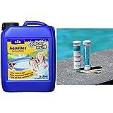 Söll 10750 AquaDes Pool-Desinfektion flüssig 5 l - wirksame Poolreinigung Wasserpflege gegen Bakterien und Keime zur Desinfektion& BAYROL Quicktest - 50 Pool Teststreifen zur Wasseranalyse - pH Wert