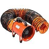 Mophorn 8 Zoll Industrieventilator-Luftabsaugung mit PVC-Rohr 10M
