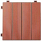 YuPaoPao Holz-Bodenbelag, Terrassen-Pflaster, ineinandergreifende Holz-Kunststoff-Fliesen für den Außenbereich, Garten, Veranda, Balkon, 30,5 x 30,5 cm 12'x12' x 0.8'