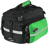ZHTT Fahrrad-Packtasche hinten, abnehmbare Fahrradkoffer-Kofferraumtasche mit großer Kapazität Handtasche Schultergurt, Aufbewahrungstasche für Fahrradträger 5-Farben-Fahrradtasche