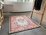 Rozenkelim Badmatte   Badvorleger für Ihrer Dusche oder Badewanne   Machinewaschbar 70% Polypropylen, 30% Baumwolle (Pastell, 90cm x 70cm, 5 mm hoch)