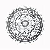 Runde Teppiche kurzflor, mit Vintage Optik Handgewebte schicke böhmische Mandala Bedruckte Muster-Baumwollteppich 100x100cm Waschmaschinenfest, Ideal für Wohnzimmer, Schlafzimmer