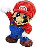 NXNX Super Mario Figure 3D Modell 8493Pcs Micro Diamant Blöcke Ziegelsteine Mini Baugruppe Kindrentoy Geschenke,Rot