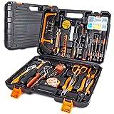 102-Teiliges Werkzeugkoffer Premium Universal Werkzeugkasten, Haushalts-Werzeug Set mit eine Vielzahl von Werkzeugen