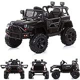 Chipolino Kinder Elektroauto SUV Safari Stoßdämpfer, USB-Anschluss, Licht, Musik, Farbe:schwarz