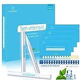 White Stripes, Kastiny 56 Bleaching Zähne Stripes mit 3 Zahnaufhellung Stifte, Zahnbleaching Gel Zahnweiß Streifen für Weiße Zähne, No-slip Technology Teeth Whitening Kit | Brighter Smile
