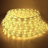 COCOMIA 14 Meter LED Lichterschlauch Außen, Wasserfest LED Schlauch für Auße, Dekoration und Beleuchtung LED Lichterschlauch für Halloween, Garten, Weihnachten, Hochzeit, Party, Warmweiß