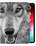 Für iPad Air3 10,5-Zoll-Gehäuseabdeckung, Wolf-Schwarz-Weiß-Gehäuse Slim Shell Cover für iPad iPad Air3