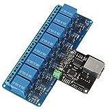 Ethernet Realy Controller, Ethernet-Steuermodul LAN WAN-Netzwerk Web-Server RJ45-Port + 8-Kanal-Relais für Beleuchtung und Klimaanlage