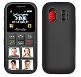 simvalley MOBILE Seniorenhandy: Senioren-Handy, Garantruf Premium, GPS-Ortung, 4 Kurzwahl-Foto-Tasten (Seniorenhandy mit Fototasten)
