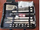 Kollea BBQ Grillbesteck Tool Set, 25-teiliges Hochleistungs Edelstahl Grillwerkzeug, Grill Kit mit Matte zum Grillen für Outdoor Picknick Familien Garten Party, Grillset Geschenk für Männer Frauen