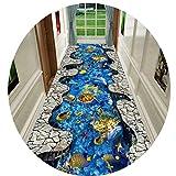 3D Extra Lange Läufer Teppich Flur Zuhause Zeitgenosse Kind Spielzimmer Halle Eingang Teppichläufer rutschfest Teppiche, Breite 0,6/0,8/0,9/1 / 1,2/1,4 m,1.4 * 3