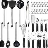 36er Küchenhelfer Küchenutensilien Set | Silikon Antihaft Hitzebeständiger Silikonspatel Set | Home Kitchen Cooking Tools Küchenhelfer Utensilien Kochg