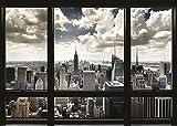 Close Up New York Poster Skyline Fenster (140cm x 100cm) + Ü-Poster