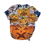 Damen T-Shirt Longbluse Halloween-Druck Übergröße O-Ausschnitt T-Shirts Kurzarm Grafik Kurzarm Tunika Kleid Slim Fit Blusenkleid Shirt Outdoor