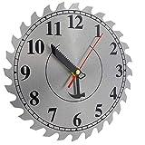 Ram-Pro Industrial Shop Wanduhr Sägeblatt Edelstahl Hängende Uhr Perfektes Zubehör für jede Werkstatt oder Garage