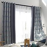 Orumrud Blickdicht Gardinen vorhänge mit Ösen für Schlafzimmer Thermogardinen Vorhang Blickdicht 150 * 140 cm 1er Set (Farbe : A, Größe : H137cm×132cm)