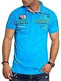 behype. Herren Kurzarm Polo-Shirt T-Shirt Polo-Hemd 20-7282 Türkis L