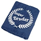 Abc Casa Super Bruder Handtuch zum Geburtstag, Namestag, Jahrestag, Valentinstag - dauerhaft nützliches Geburtstagsgeschenk für der Beste B