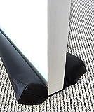 OO Living Doppelseitiger Zugluftstopper für unter der Tür, geräuscharm, lichtdicht, blockiert 5,1 cm, Schaumstoff, große Lücken, Isolierung, energiesparend, verstellbar, 81 bis 96,5 cm, 5 cm (schwarz)