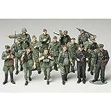 TAMIYA 300032530 - 1:48 WWII Figuren-Set Deutsche Infanterie Manöver, 15 Soldaten