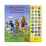 27-Button Soundbuch - Die schönsten Kinderlieder zum Mitsingen - Mit 27 Liedern durch das Jahr Hardcover-Buch mit Noten - Liederbuch: mit 27 bek