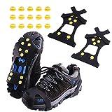 Rakaraka Schuhspikes, Schuhkrallen Steigeisen mit Einem 15er-Pack Ersatz - Schneespikes für Winter Walking Wandern Bergsteigen (Yellow, L)