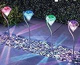 10 Teile/Los Wasserdichte Outdoor LED Solarbetriebene Gartenpfad Pfahl Laternen Lampen LED Diamanten Rasen Licht Solar Lichtpfad LED