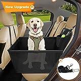 Wimypet Hunde Autositz für Kleine Mittlere Hunde, Hundesitz Haustier Robust Autoschondecke mit Hundesicherheitsgurt, Wasserdicht Faltbar Autositzbezug mit Aufbewahrungstasche