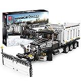 WXBXIEJIA Technik Schneepflug Bausteine Mould King, Schneeschieber, 1694 Klemmbausteine Technik Traktor LKW Modell, Kompatibel mit Lego Technikwhite-Snow Pusher