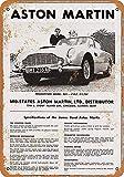 NOT Aston Martin Car Wand Dekoration Retro Metallplakat Zinn Zeichen gemalt Kunst Dekoration Plaque Warnung Cafe Garage Party Spielzimmer