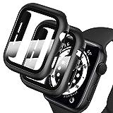 Deilin 2 Stück Hard Hülle mit Glas Displayschutz, Kompatibel mit Apple Watch Series 1/ Serie 2/ Series 3 42mm, Ultradünne, Blasenfreie, PC All-Around Schutzhülle für iWatch 1/2/3 42mm