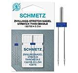 SCHMETZ Nähmaschinennadel | 1 Zwillings-Stretch-Nadel 4,0/75 | 130/705 H-S ZWI NE 4,0 | geeignet für alle gängigen Haushalts-Nähmaschinen, die über eine Zickzack-Funktion verfügen
