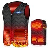 X99 Beheizte Weste, USB Einstellbare Temperatur Elektrische Beheizte,Größenverstellbar Beheizbare Weste für Herren und Damen, Heated elektrisch Vest Jacke für Motorrad Outdoor Jagd(S-Damen)