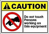 HONGXIN Blechschild mit Aufschrift 'Do Not Touch Persons Working Equipment', Vintage-Stil, für Zuhause, Bar, Kneipe, Garage, Dekoration, Geschenke, Band, Bier, Eier, Kaffee, Bauernhof, Garten